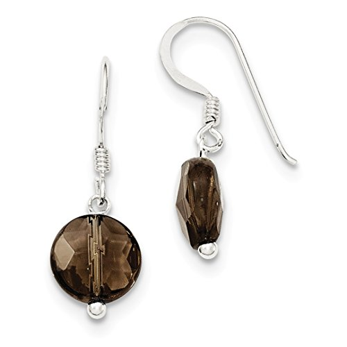 ICE CARATS 925 Sterling Silver Smoky Quartz Drop Dangle Chandelier Earrings Fine Jewelry Ideal Mothers Day Gifts For Mom Women Gift Set From Heart (Quartz Earrings Smoky Chandelier)