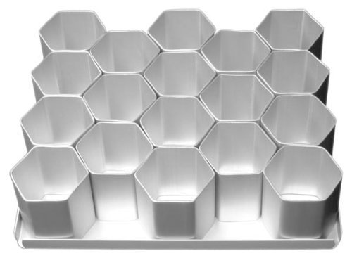 Hexagon Mini Cake Pan 2-1/2 Inches Set 15 Count by Alan Silverwood