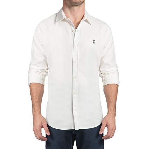 Camisa Linho Rústico Stretch Off-White