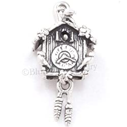 OutletBestSelling Beads Bracelet 3D Cuckoo Clock Moveable Pine Cones Charm Pendant Sterling Silver Solid