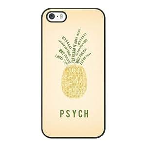 Psych Q2J5IB4H Caso funda iPhone 5 5s Caso funda del teléfono celular Negro