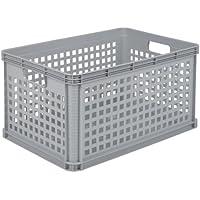 OKT - Cesta contenedora apilable (plástico, 64 l