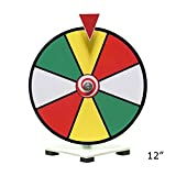 Dry Erase Tabletop Spinning Prize Wheel - Colored Face - 12''