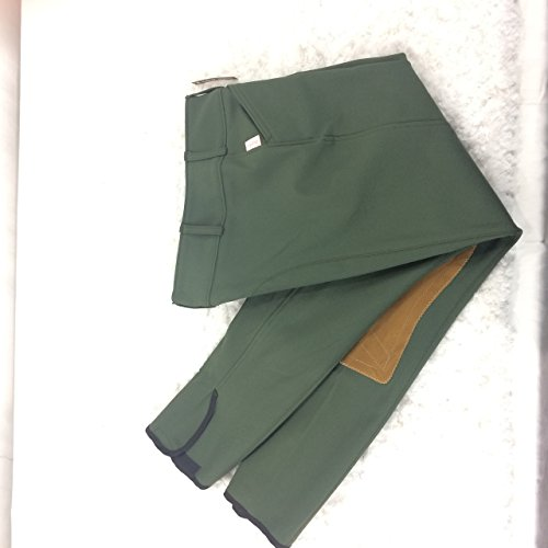 Tailored Sportsman Ladies Trophy Hunter Low Rise Front Zip Loden Green Tan Patch 28R ()