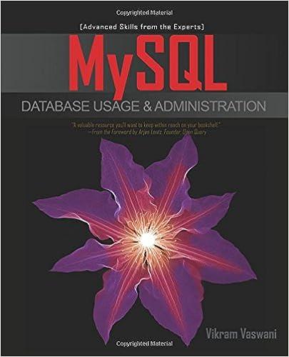 Mysql Database Book