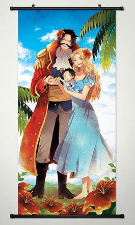 One Piece Wall Scroll Poster Fabric Painting For Anime Gol D