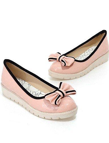 PDX/ Damenschuhe - Ballerinas - Outddor / Büro / Kleid / Lässig - Kunstleder - Flacher Absatz - Komfort / Rundeschuh - Grün / Rosa / Beige , pink-us6.5-7 / eu37 / uk4.5-5 / cn37 , pink-us6.5-7 / eu37