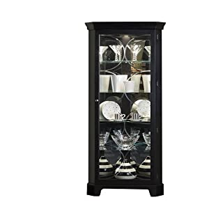 Amazon.com: Pulaski Corner Curio, 27 by 15 by 74-Inch, Black ...