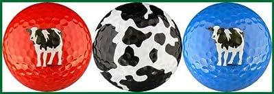 Woody's Cows Golf Balls (Red, Spots & Blue) Golf Ball Gift Set