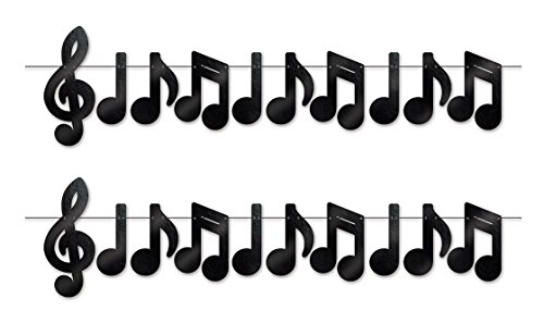 Beistle 52201, 2Piece Foil Musical Notes Streamers, 13.75