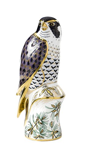 Royal Crown Derby Peregrine Falcon - 22k Guilding Paperweight BNIB- RETIRED RARE