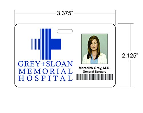 Meredith Grey, Grey's Anatomy Novelty ID Badge Film Prop for Costume and Cosplay • Halloween and Party Accessories Photo #3