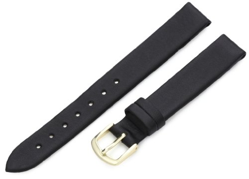 Hadley-Roma Women's LSL712RA 130 13-mm Black Genuine Leather Watch Strap