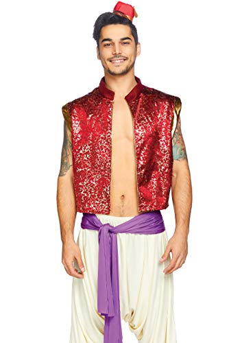 Leg Avenue Men's Arabian Prince Costume, Multi,