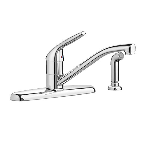 American Standard 4175701.002 Colony Choice 1-Handle Kitchen with Side Spray Faucet, Polished Chrome