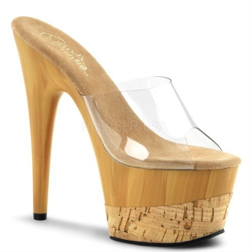 Pleaser - Sandalias mujer Multicolor - Clear/Tan