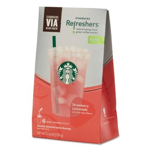 (Starbucks VIA Refreshers, Strawberry Lemonade, 4.16 Ounce )