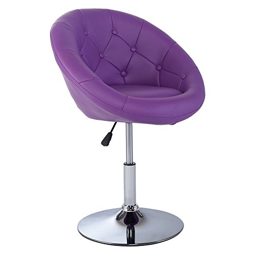 LTL 1PC Leather PU Purple Adjustable Modern Swivel Round Accent Chair (Rattan Furniture Melbourne Florida)