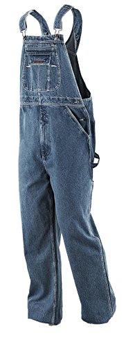 Five Brother Enzyme Washed Denim Bib Overalls, 48W X 30L ()