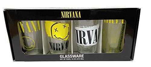 (Nirvana 4pc Pint 16oz Glassware Set in Gift Box)