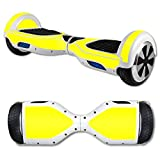 MightySkins Protective Vinyl Skin Decal for Hover Board Self Balancing Scooter mini 2 wheel x1 razor wrap cover sticker Solid Yellow