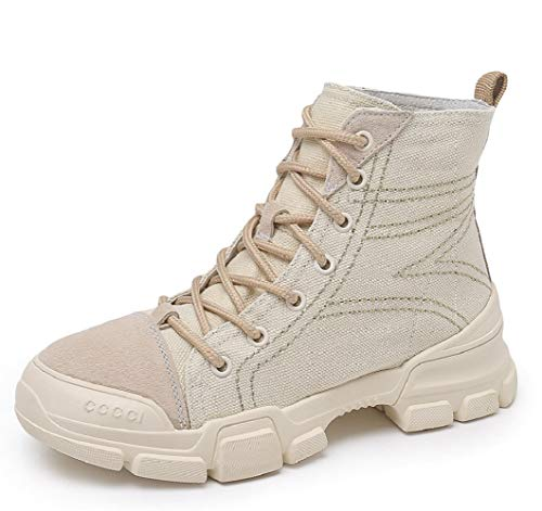 Khaki Damen High Stiefel Leder Damen Stiefel Studenten Stiefel LIANGXIE Martens Koreanische Damen Boots Stiefeletten Shoes Casual Booties Tooling Fashion Toe Outdoor Rvqxd1