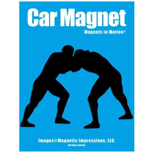 Wrestler Car Magnet Black