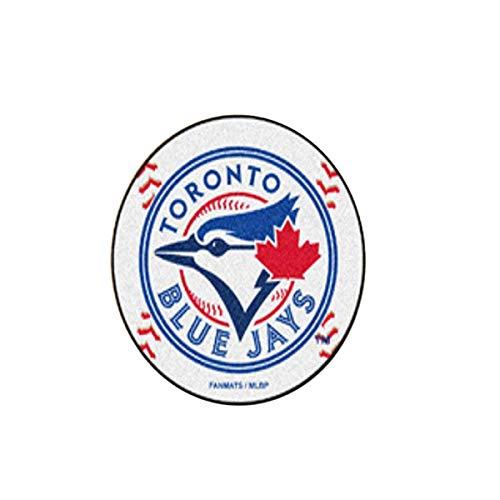 FANMAT MLB - Toronto Blue Jays Baseball Mat 27 Inch Diameter Non Skid Rug Mat Floor ()