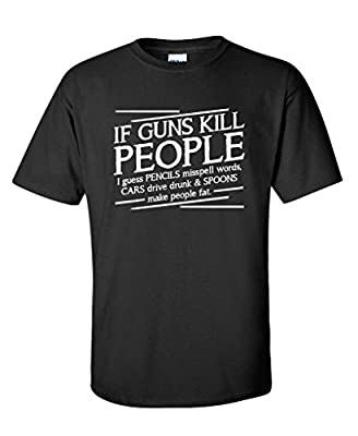Guns Kill People, Pencils Miss Spell Words Gift Idea Political Funny T-Shirts