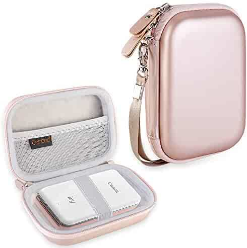 Canboc Carrying Case for Canon Ivy Mini CLIQ CLIQ+ Instant Camera Printer Wireless Bluetooth Mobile Portable Photo Printe, Rose Gold