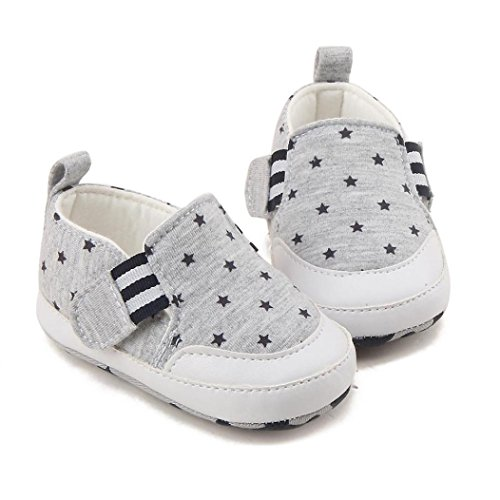 Hunpta Säuglings Baby Jungen Druck Krippe schuhe Weiche Sohle Anti Rutsch Turnschuh Schuhe Grau