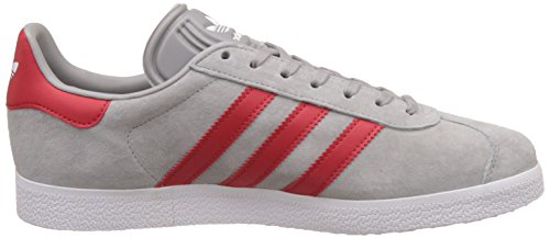 Adidas Unisex Gazelle Casual Sneakers Medium Grijs Scarlet