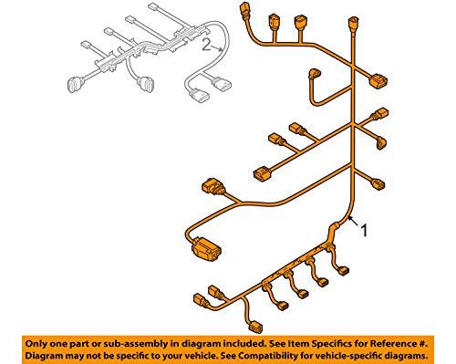 Volkswagen VW OEM-Engine Control Module ECM PCU PCM Wiring Harness 06J971595D