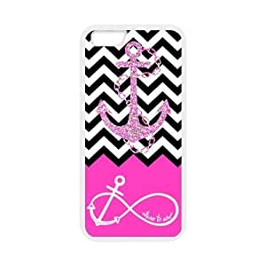 Generic Pink Block Chevron Zigzag Infinity Anchor Quotes I Refuse to Sink Design TPU Case for Iphone 6 4.7'' by runtopwell