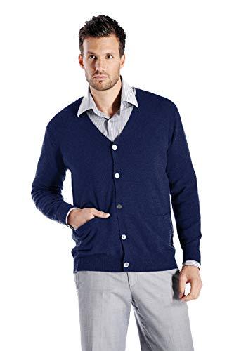 (Cashmere Boutique: Men's 100% Pure Cashmere Cardigan Sweater (Color: Navy Blue, Size: Extra Large))