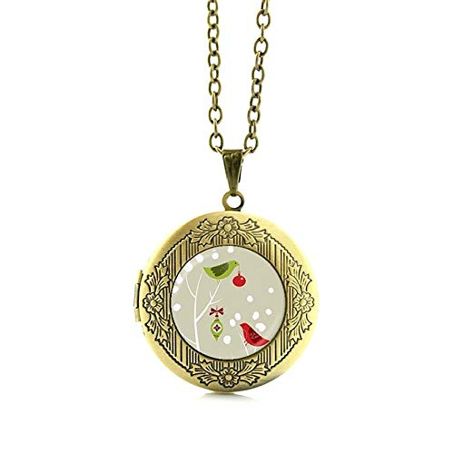 Pendant Necklaces - Hot Sale Bioshock Infinite Bird cage Necklace cage is Somber Elizabeth Choker Jewelry Glass Art Hummingbird Locket Pendant N697 - by Mct12-1 PCs -