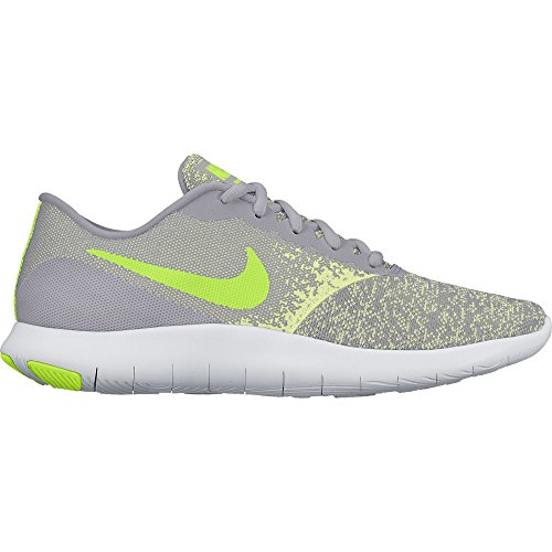 Nike Womens Flex Contact Running Shoe Wolf Grey/Volt-Barely Volt-White 9.5 by NIKE