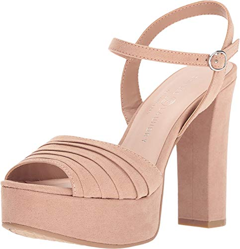 Chinese Laundry Women's Allie Dark Nude Microsuede 5 M US M