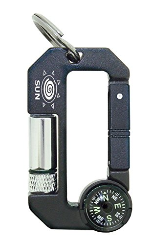 Carabiner With Compass And Led Light