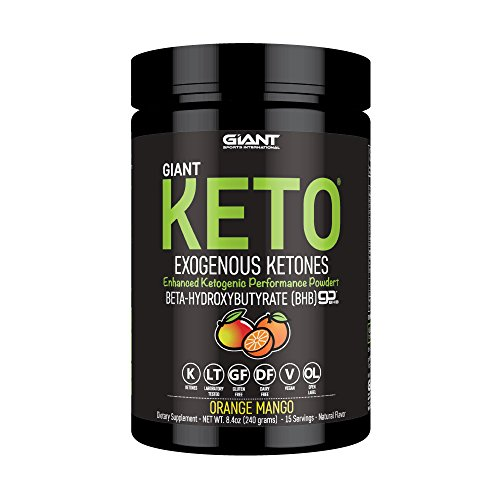 Giant Keto – Exogenous Ketones Supplement – BHB Salt Keto Powder, New and Improved Formula to Support Your Ketogenic Diet, Boost Energy and Burn Fat in Ketosis – Orange Mango- 15 Servings