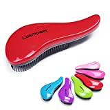 Salon Elite Detangler Brush Professional Detangle Hair Comb - No More Tangle Use in Wet or Dry Hair for Adults & Kids - Red color