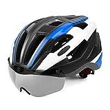 ZMYLOVE Cycle Bike Helmet, Gafas magnéticas Desmontables Visor Shield CPSC Certified Adjustable Women Men Mountain & Road Bicycle Helmets 57CM-62CM