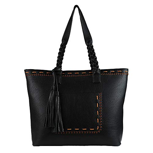 Concealed Carry Purse - Locking Cora Stitched Gun Tote by Lady Conceal (Black)