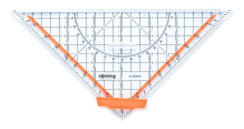 Throttling geometry ruler 25cm large R823080 (japan import)