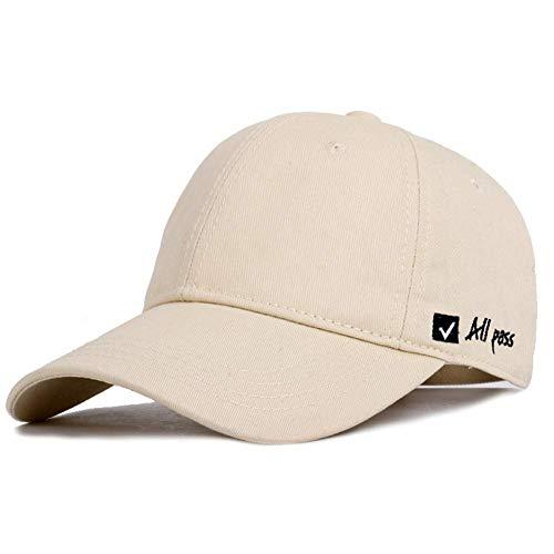 LVGUMM Letter Embroidered Baseball Caps Tail Adjustable Streetwear Sunhat Unisex Dad Truck Driver Hats Bonnet,Beige