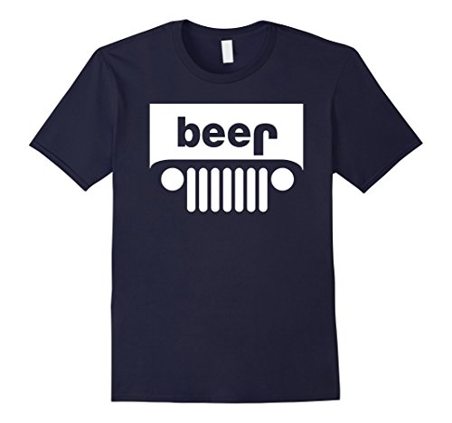 Men's Adult Beer Jeep Funny Drinking T-Shirt - PREMIUM QUALITY Medium (Beer Jeep Tshirt)