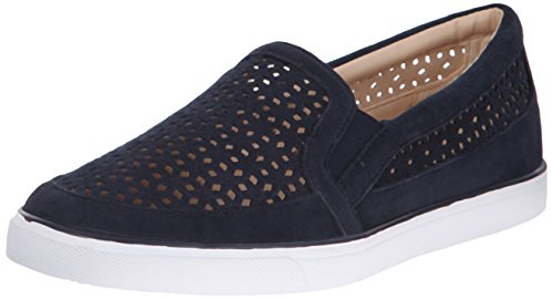 Nine West Women's Banter Suede Fashion Sneaker, Navy, 8.5 M US