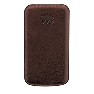 Chameleon High Quality Handmade Leather Case with Pull Tab Strap for Galaxy Ace S5830 - Non-Retail Packaging - Light Brown