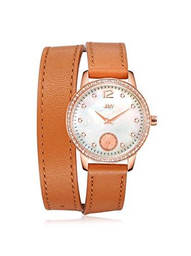 JBW J6324B Women's Savannah Watch - Mother of pearl /Brown