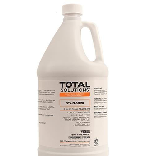Stain-Sorb stain absorbent and remover. Highly effective against hydrocarbon-based oils, greases, BBQ grill stains, silicone oils (30 Gallon Drum)